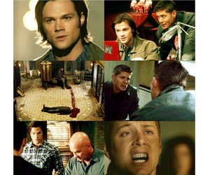 dean winchester, yellow, and sam winchester image
