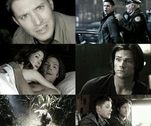 dean winchester, edit, and grey image