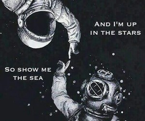 astronaut, frases, and ocean image