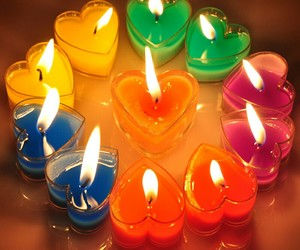 candle, hearts, and love image