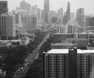 bangkok, blackandwhite, and city image