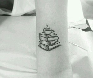 tattoo, book, and coffee image