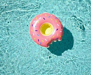 beach, float, and donut image