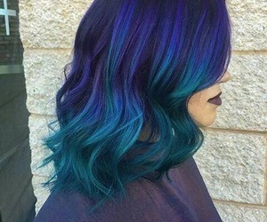 blue hair, goals, and hair image