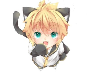 neko, vocaloid, and chibi image