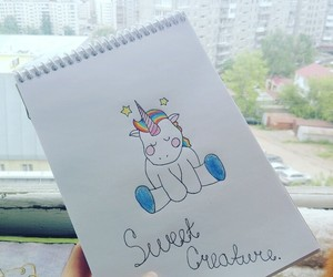 magic, unicorn, and sweet creature image
