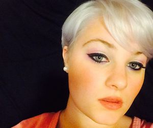 makeup, tutorial, and white hair image