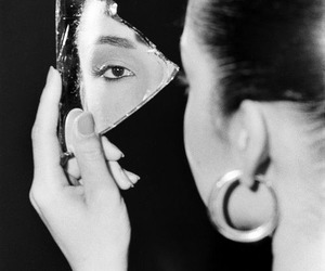 sade, black and white, and mirror image