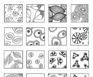 floating, patterns, and zentangle image