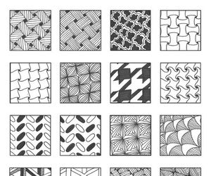 grids, patterns, and zentangle image