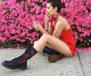 halsey, red, and pink image