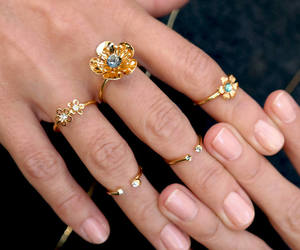 cocktail ring, etsy, and gold ring image