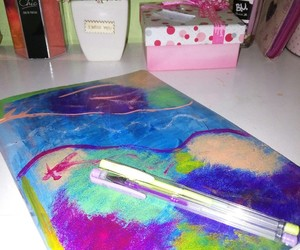 acrylic, notebook, and tumblr image