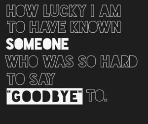 best friend, goodbye, and lucky image