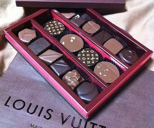 chocolate, Louis Vuitton, and food image