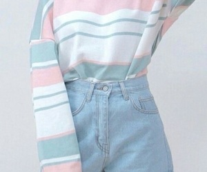 pastel, blue, and outfit image