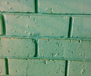 aqua, bricks, and green image
