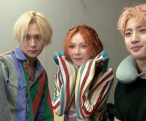 triple h, hyuna, and hui image