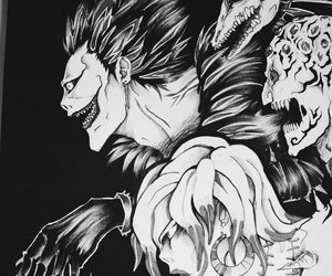 anime, art, and death note image