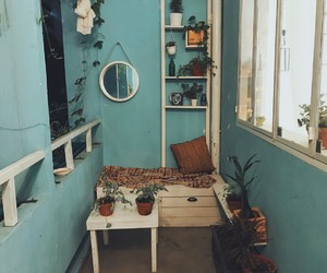blue, home, and vintage image
