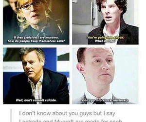 sherlock, lestrade, and mycroft image