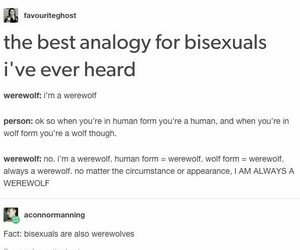 bisexual, werewolf, and funny image