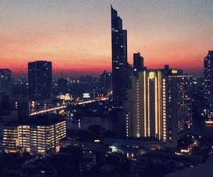 bangkok, luxe, and sunset image