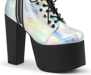demonia shoes and vegan leather image