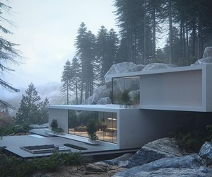 architecture, modern, and forest image