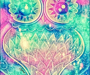 colorful, owl, and wallpaper image