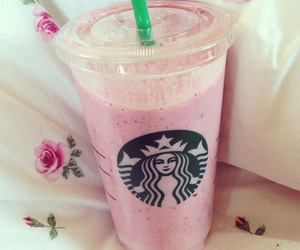 coffee, frappuccino, and pink image