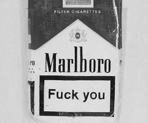 black, cigarette, and fuck you image