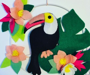 craft, felt, and toucan image