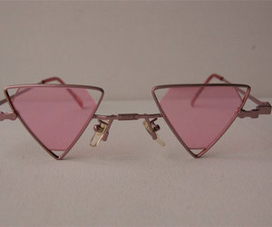 glasses and triangle image