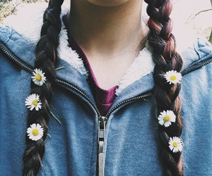 blue, spring, and braids image