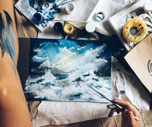 art, artist, and watercolor image