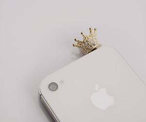 accessoires, crown, and iphone image
