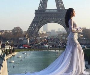 bridal, eiffel tower, and paris image
