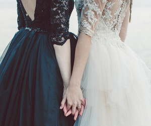 beautiful, black, and bridal image