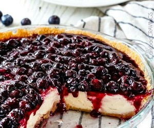 blueberry, cheesecake, and yummy image