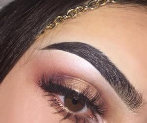 makeup, brows, and eye makeup image