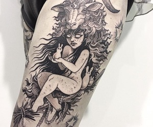 black, Tattoos, and girl image