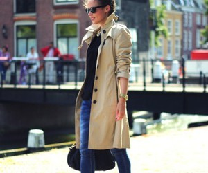 trench coat and chic fashion image