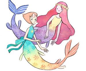 pearl, princess bubblegum, and steven universe image