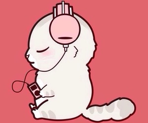 wallpaper, cat, and music image