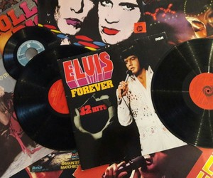 elvis and records image