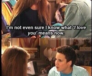 boy meets world and love image