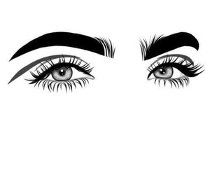 eyes, art, and outline image