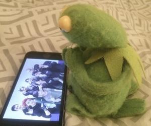 exo, kermit, and meme image