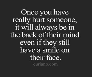 hurt, quotes, and smile image